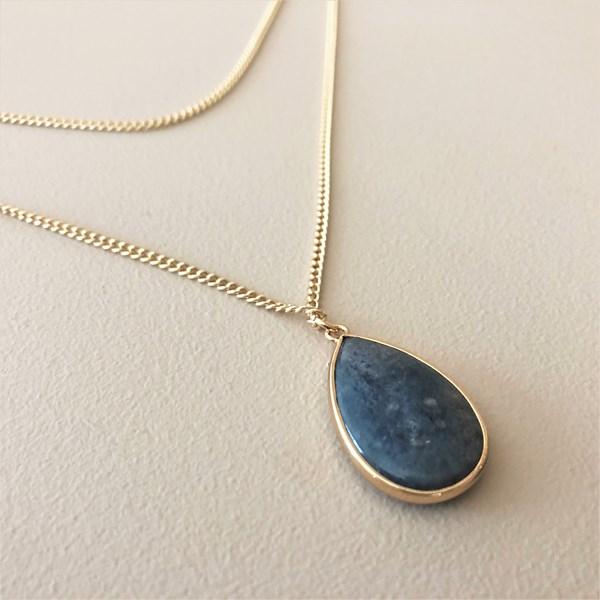 Teardrop Stone Drop Necklace
