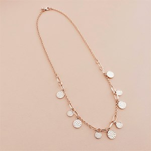 Discs Links Long Necklace