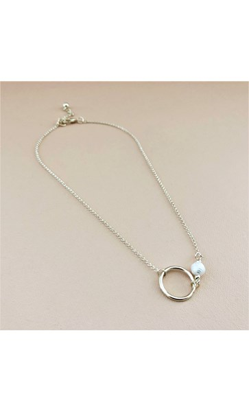 Fine Short Pearl Ring Necklace