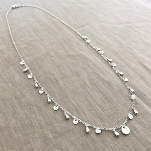 Long Mini Discs Pods Necklace