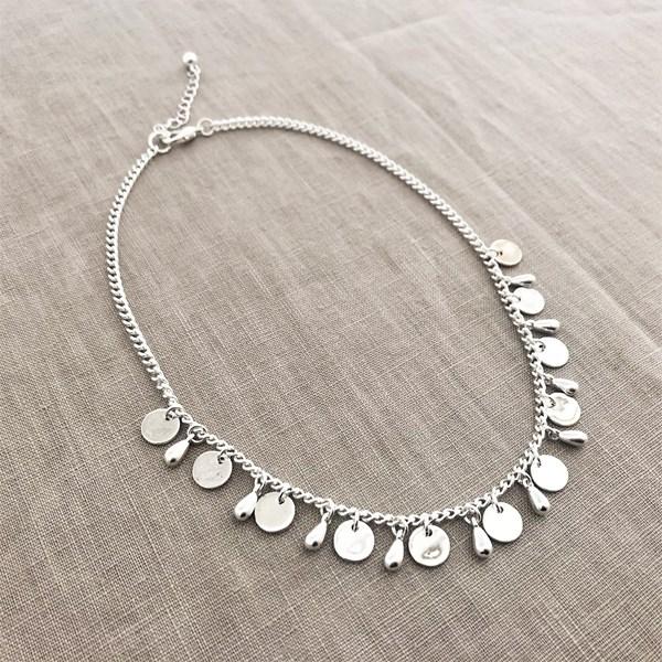 Short Discs Chain Necklace