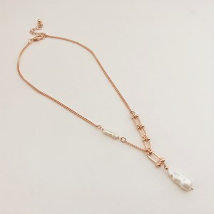 Short Pearl Link Necklace