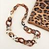 Resin Metal Long Links Necklace - pr_61792