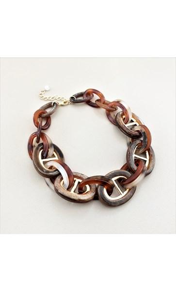 Statement Short Resin Metal Necklace