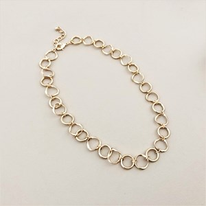 Metal Linked Long Necklace