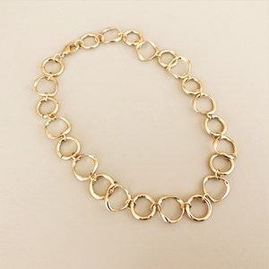 Metal Links Short Necklace