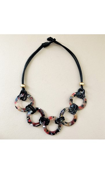 Resin Cord Linked Front Necklace