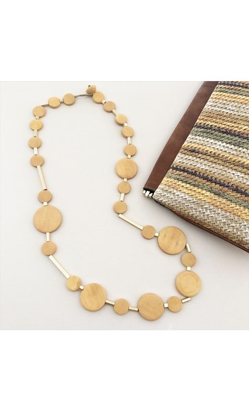 Smooth Timber Metal Rods Necklace
