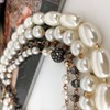 Four Strand Pearl & Crystal Mix Statement Necklace - pr_63826