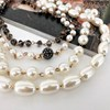 Four Strand Pearl & Crystal Mix Statement Necklace - pr_63827