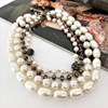 Four Strand Pearl & Crystal Mix Statement Necklace - pr_63830