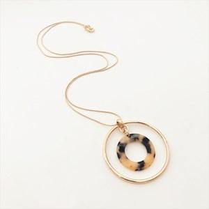 Resin Metal Ring Necklace
