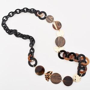 Resin Link & Moulded Metal Necklace