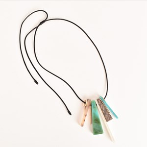Geo Shaped Cluster Necklace