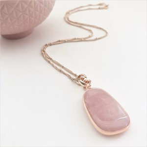 Stone Multi Chain Pendant Necklace
