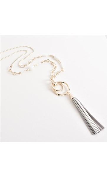 Rings Tassel Beaded Long Necklace