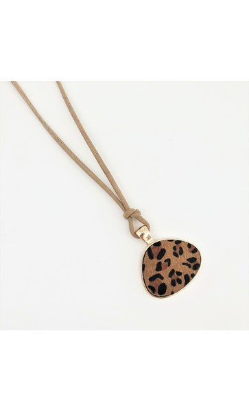 Hide Geo Disc Cord Back Necklace