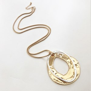 Cut Out Pendants Long Necklace