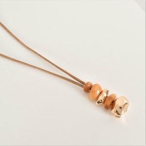 Resin Metal Pod Drop Necklace