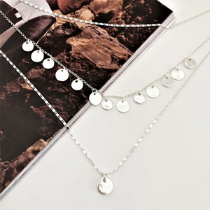 Mix Chain Layered Disc Necklace