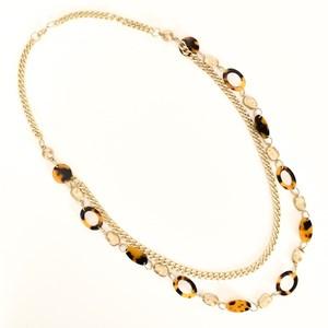 Duo Resin Metal Long Necklace