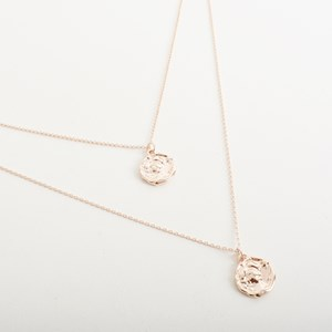 Claudia Long Coin Layered Necklace