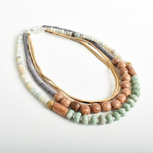 Stone Bead Mix Short Necklace
