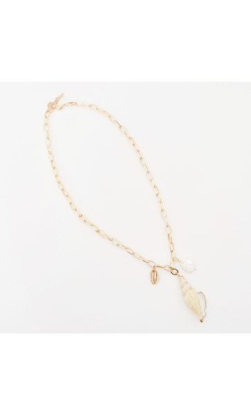 Tahiti Shell Cluster Necklace