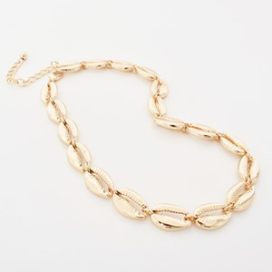 Metal Cowri Necklace