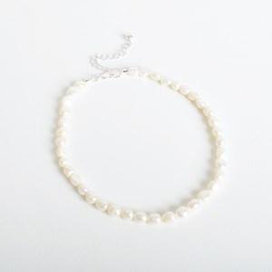 Uneven Pearl Short Necklace