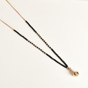 Ball Drop Facet Glass Long Necklace