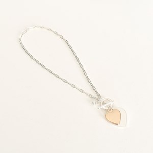 Heart Duo Fob Short Necklace