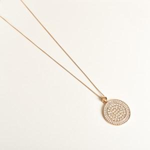 Diamante Pendant Long Necklace
