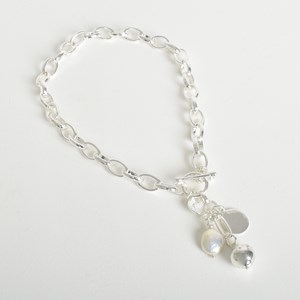 Pearl Ball Cluster Short Necklace
