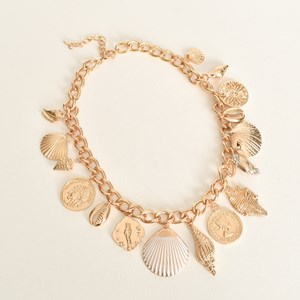 Positano Shell Charms Short Necklace