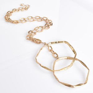 Double Ring Chain Necklace