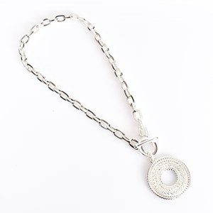 Cast Rattan Pendant Chain Necklace