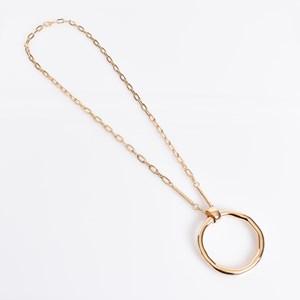 Circle & Rod Pendant Necklace