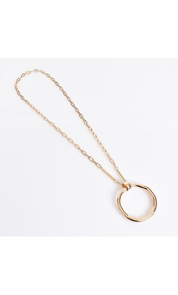 Circle & Rod Pendant Necklace