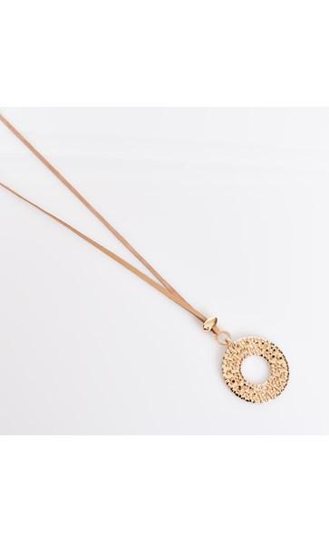 Cast Rattan Pendant Adjustable Necklace