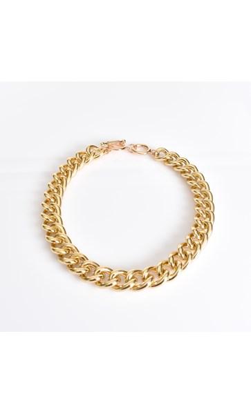 Aluminium Chain Linked Necklace