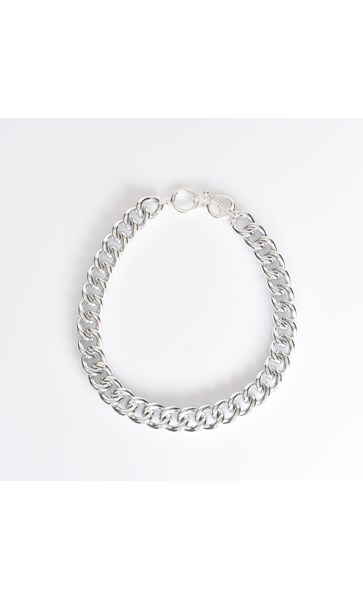 Aluminium Chain Linked Necklace