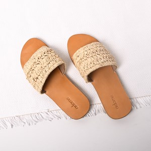 Raffia Weave Slides Size 38