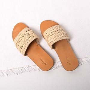 Raffia Weave Slides Size 39