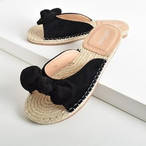 Lottie Faux Suede Knot Bow Espadrille Slide Size 38