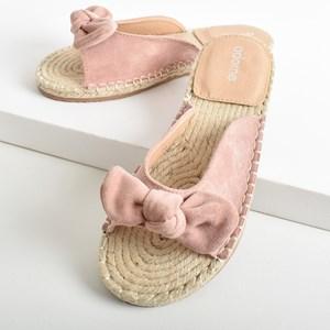 Lottie Faux Suede Knot Bow Espadrille Slide Size 39