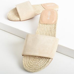 Milly Faux Suede Espadrille Slide Size 39