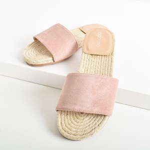 Milly Faux Suede Espadrille Slide Size 40