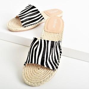 Sienna Hide Espadrille Slide Size 38