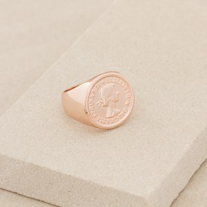 Coin Signet Large Size Ring